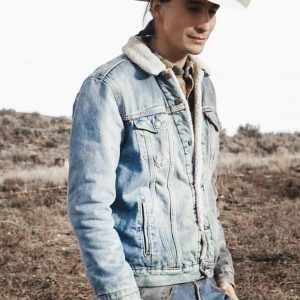 gerald-tokala-yellowstone-sam-stands-alone-denim-jacket