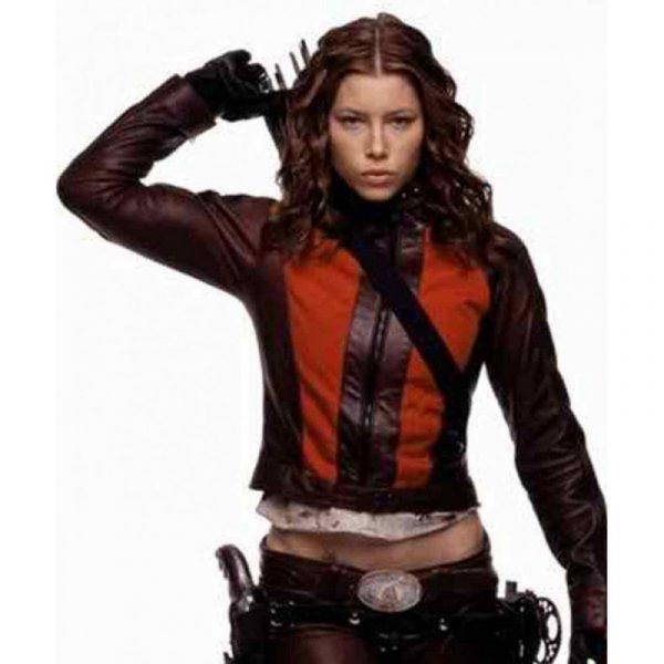 Jessica Biel Blade Trinity Abigail Whistler Leather Jacket