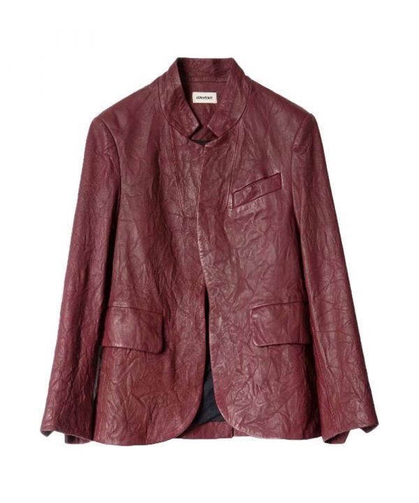 Angela Bassett TV Series 9-1-1 Athena Grant Red Leather Jacket