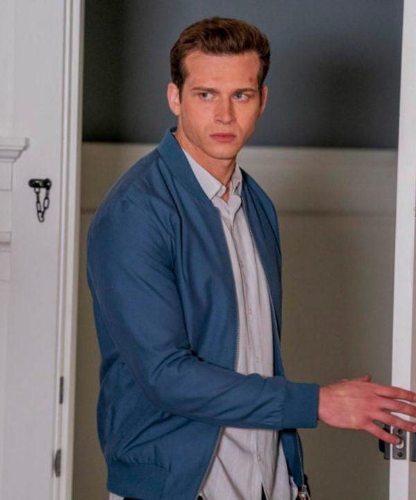 Oliver Stark Evan Buckley TV Series 9-1-1 Blue Bomber Jacket