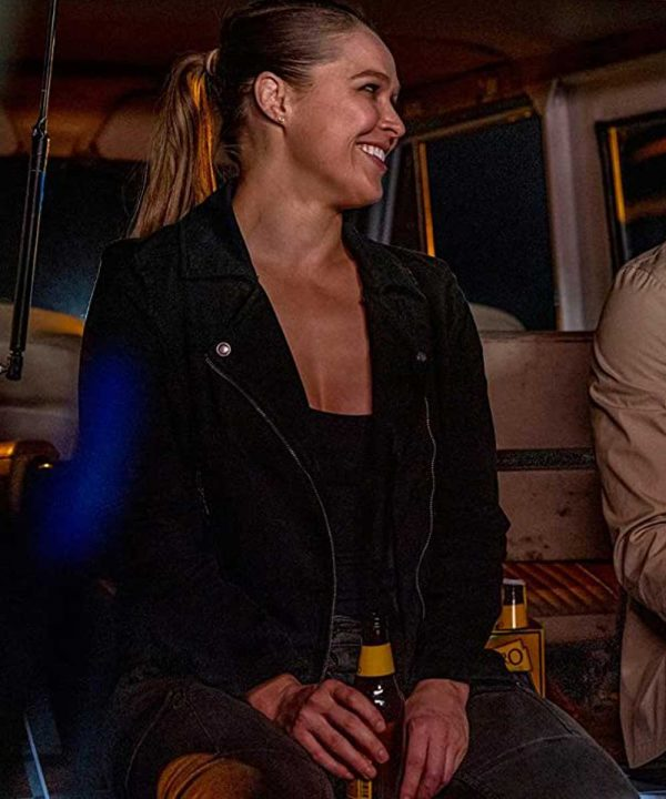 Ronda Rousey Lena Bosko TV Series 9-1-1 Black Leather Jacket