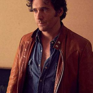 David Slaney Caught Allan Hawco Brown Leather Jacket