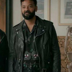 Ian Owens TV Series Shrill Amadi Black BIker Leather Jacket