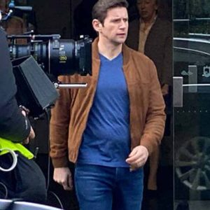Brennan As Luck Would Have It 2021 Allen Leech Brown Bomber Jacket