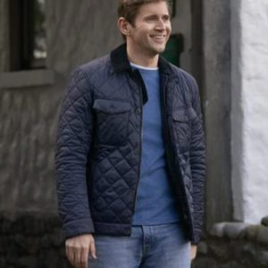 As Luck Would Have It 2021 Allen Leech Brennan Black Quilted Jacket
