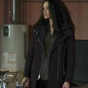 Miranda Rae Mayo TV Series Chicago Fire Leather Coat