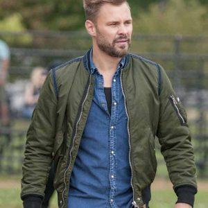 Adam Ruzek TV Series Chicago P.D. Patrick John Flueger Green Bomber Jacket
