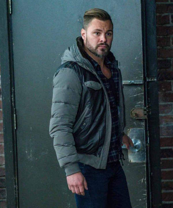 Patrick John Flueger TV Series Chicago P.D. Adam Ruzek Leather Jacket with Hood