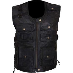 Dean-Ambrose-Leather-Vest-BLACK