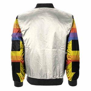 Multicolor Drip Bomber Slim fit Jacket