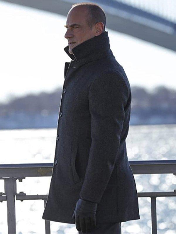 Elliot Stabler TV Series Law & Order Organized Crime Christopher Meloni Wool Coat