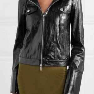 Jeanine Mason TV Series Roswell New Mexico Black Leather Jacket