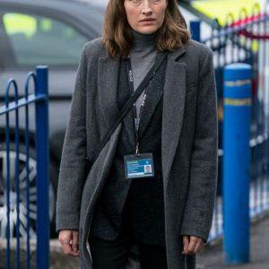 Jo Davidson TV Series The Line of Duty Season 6 Jo Long Grey Wool Coat