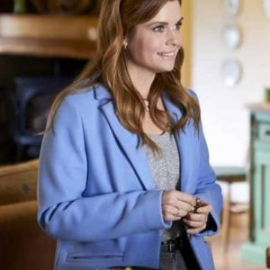 JoAnna Garcia Swisher As Luck Would Have It 2021 Lindsey Johnson Coat