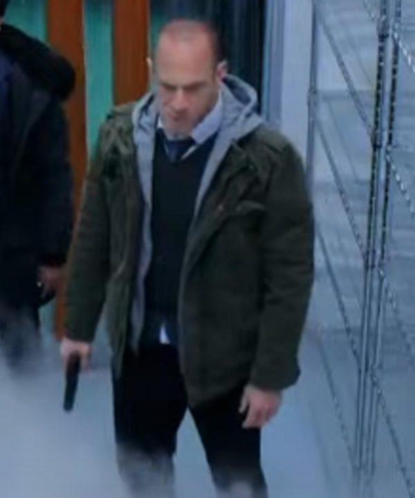 Elliot Stabler Law & Order Organized Crime Christopher Meloni Green Cotton Jacket