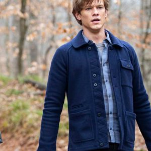 Lucas Till TV Series MacGyver Angus MacGyver Blue Jacket