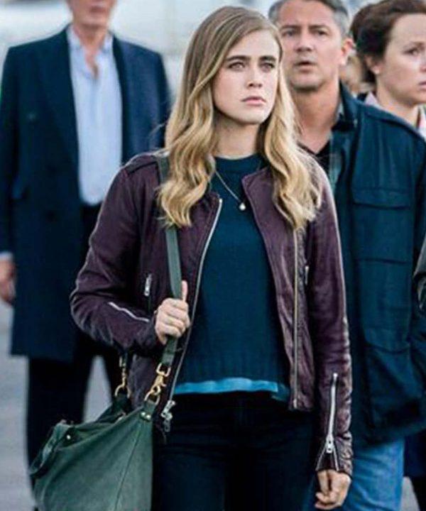 Melissa Roxburgh TV Series Manifest Michaela Stone Leather Jacket