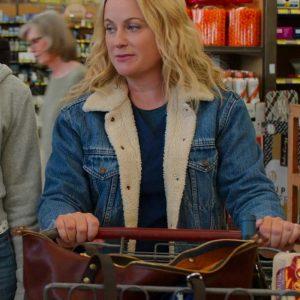 Amy Poehler Moxie 2021 Lisa Blue Denim Jacket