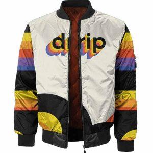Multicolor Drip Bomber Jacket