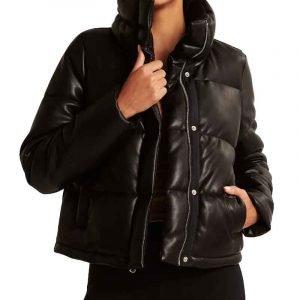 Nancy Drew S02 George Fan Leather Puffer Jacket