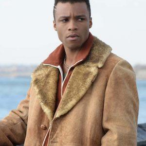 Dyllon Burnside Pose Season 03 Ricky Brown Shearling Leather Jacket