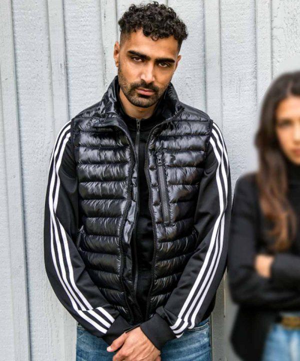 Salim Snabba Cash 2021 Alexander Abdallah Black Puffer Vest