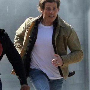 James Marsden Sonic the Hedgehog 2 (2022) Tom Beige Cotton Jacket