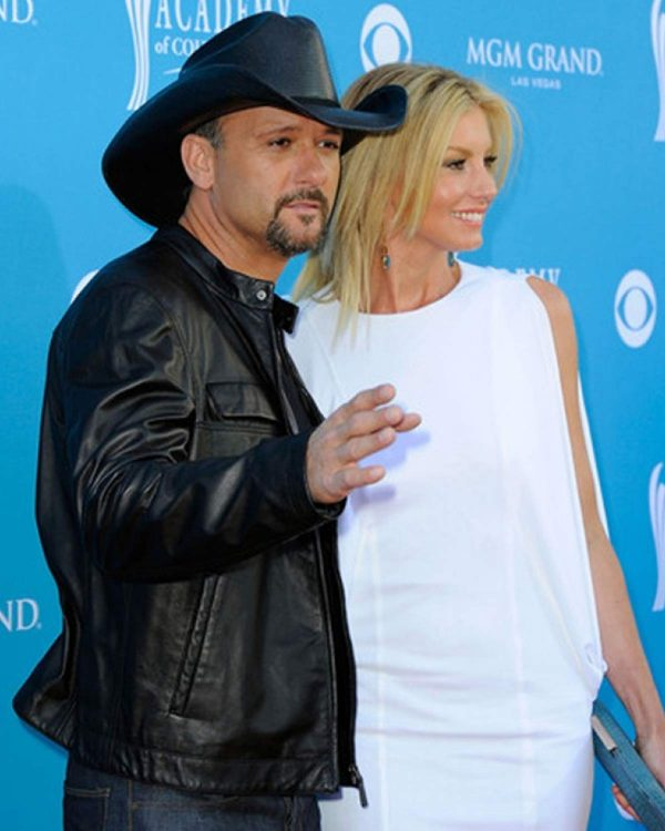 Southern Voice Tim Mcgraw Black Leather Jacket