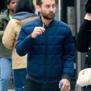 Spider-Man No Way Home 2021 Tobey Maguire Blue Puffer Jacket