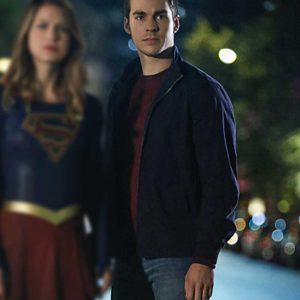 Mon-El TV Series Supergirl Chris Wood Black Cotton Jacket