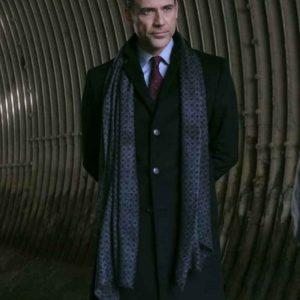Morgan Edge Superman and Lois Adam Rayner Black Mid-Length Coat