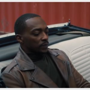 Anthony Mackie The Falcon and the Winter Soldier Sam Wilson Brown Leather Jacket