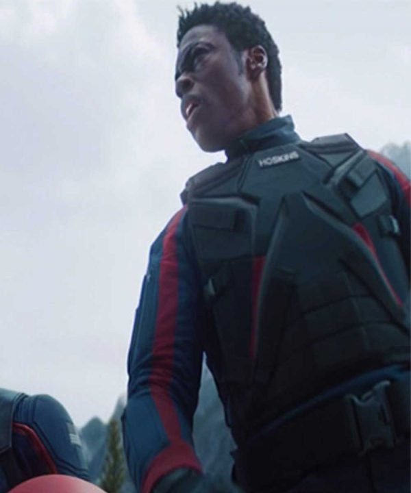 Clé Bennett The Falcon and the Winter Soldier Lemar Hoskins Black Leather Vest