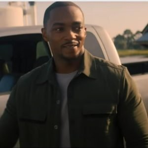 Anthony Mackie The Falcon and The Winter Soldier Sam Wilson Green Jacket