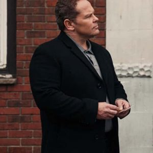 Kevin Chapman TV Series The Equalizer Zev Petrus Black Trench Coat