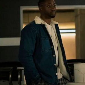 Chester P. Runk The Flash Season 07 Brandon McKnight Blue Denim Shearling Jacket