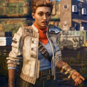Ellie The Outer Worlds Leather Jacket
