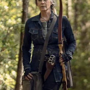 Carol Peletier The Walking Dead Season 10 Melissa McBride Blue Denim Jacket