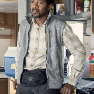 Franklin TV Series The Walking Dead S10 Miles Mussenden Grey Vest