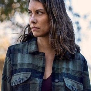 Lauren Cohan The Walking Dead S10 Maggie Rhee Checkered Jacket