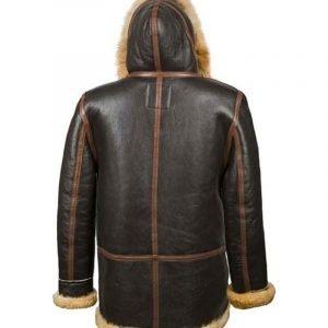 WWII B-7 Vintage Leather Sheepskin Parka Jacket