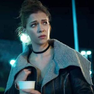Elisa Who Killed Sara Carolina Miranda Black Leather Shearling Collar Jacket