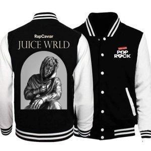 Juice Wrld Black & White Varsity Jacket