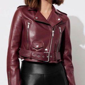 13 Reasons Why S4 Jessica Davis Maroon Jacket