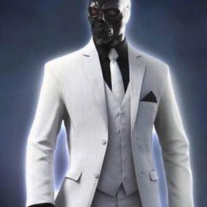 Ewan McGregor Birds of Prey Black Mask White Cotton Blazer Coat