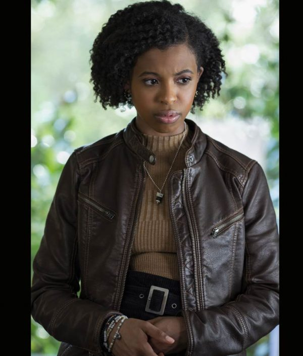 13 Reasons Why S04 Ani Achola Brown Jacket