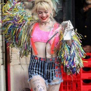 Margot Robbie Birds Of Prey Harley Quinn Wings PVC Jacket