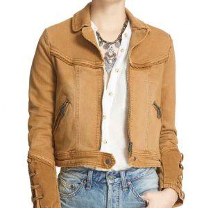 Brenda TV Series Feel Good Rosalind March Denim Jacket