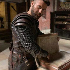 Mark Rowley TV Series The Last Kingdom S04 Finan Leather Vest