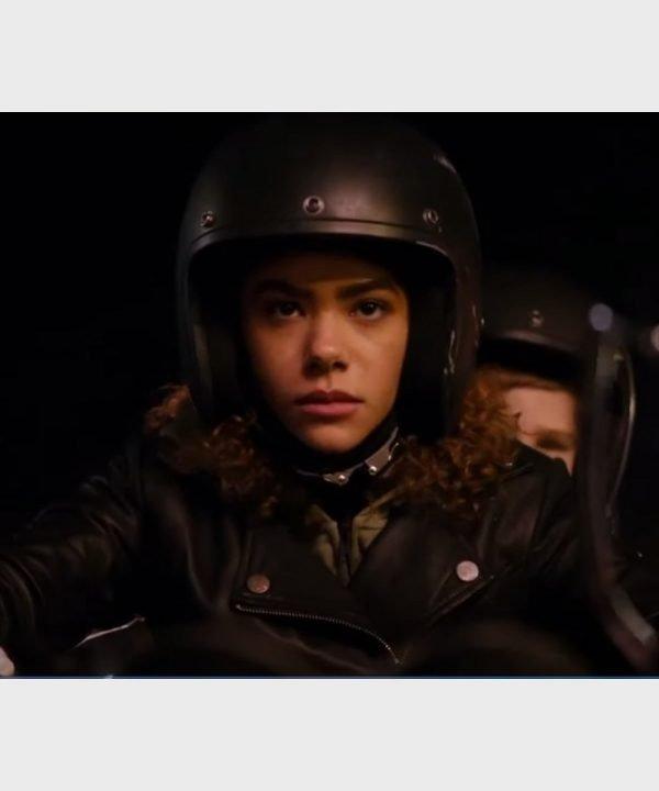 Antonia Gentry TV Series Ginny & Georgia Ginny Miller Black Leather Jacket